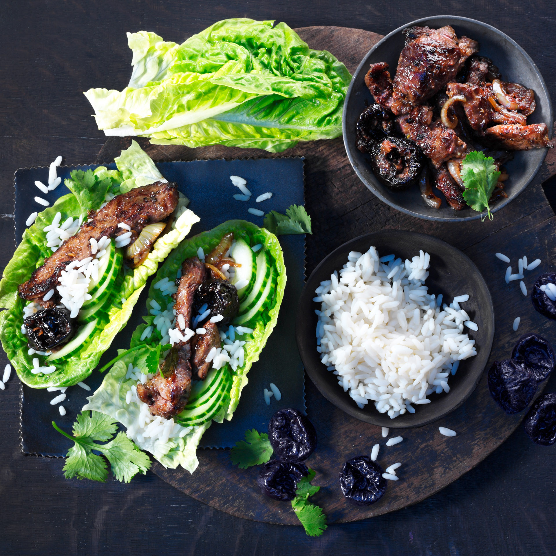 <p>Using prunes in bulgogi marinade in place of most of the sugar boosts the savory flavor of the meat.</p>