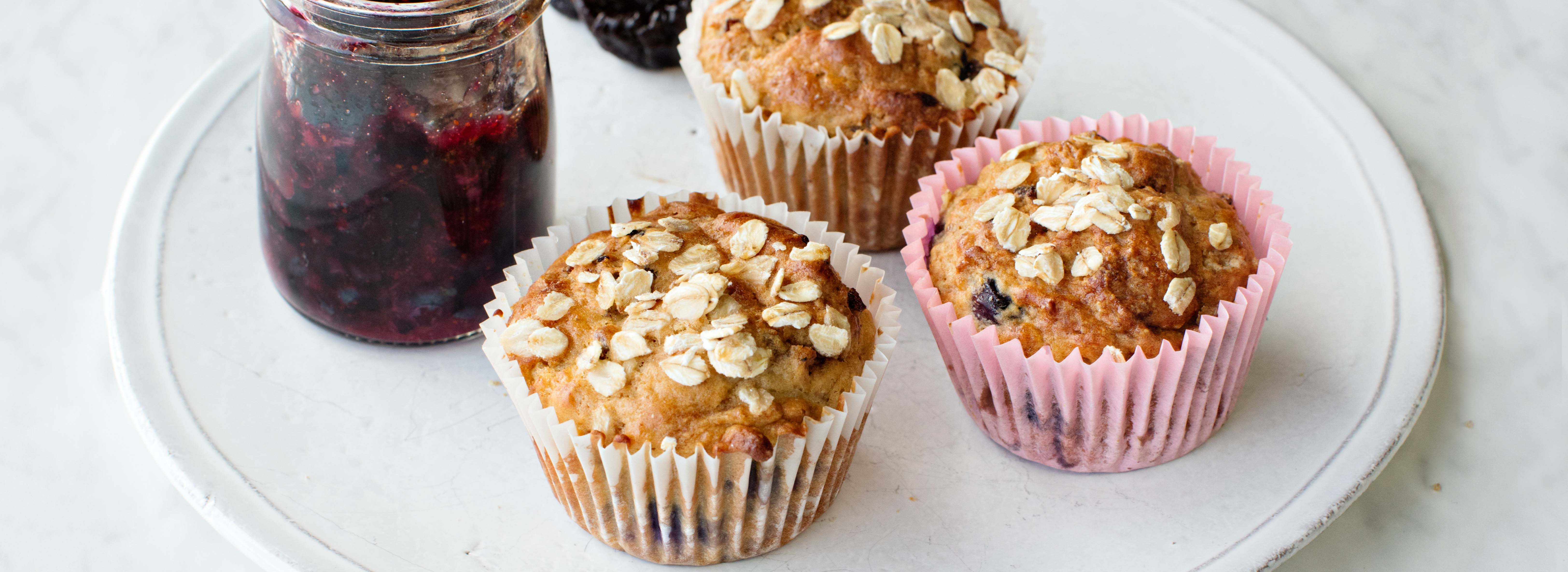 <p>Because prunes provide a greater depth of sweetness, these muffins have less sugar. Yogurt lightens the crumb and provides a small amount of tanginess. Compared with the original recipe, the sugar has been reduced by 57%, the butter by 40%, and the flour by 9%.</p>