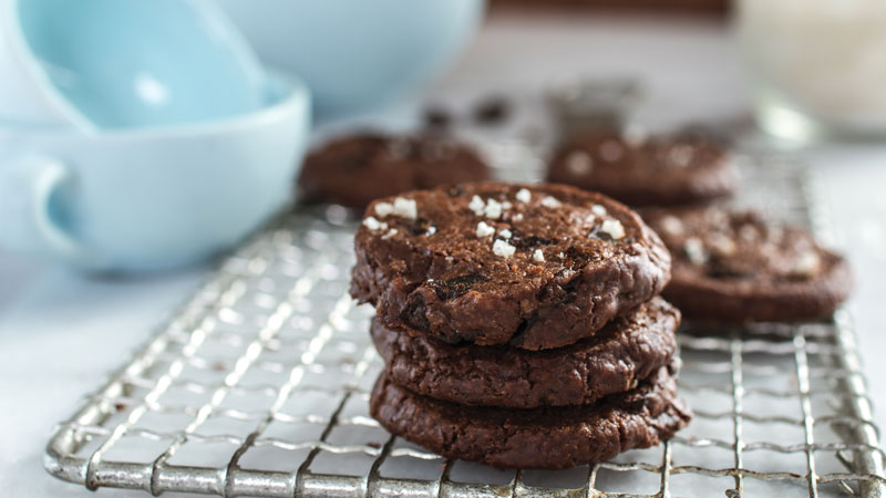 <p>The combination of bittersweet chocolate and Plum Amazins™, accented by flecks of sea salt, makes these sophisticated buttery cookies truly addictive&#8230;</p>