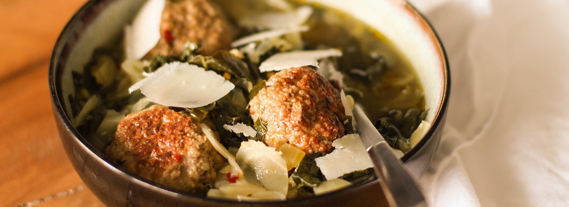 Italian Wedding Soup with Chicken Meatballs - Sunsweet ...