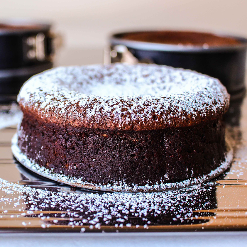 <p>This rich cake leverages a classic dessert pairing from northern Italy: chocolate and hazenuts, with Dried Plum Purée deepening the chocolate's decadence.</p>