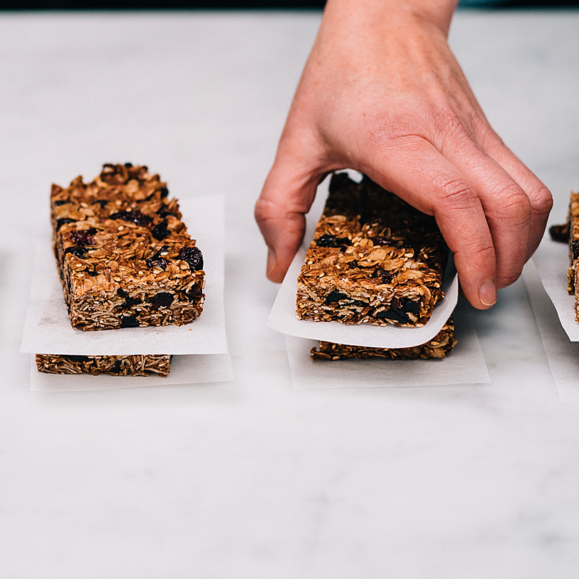 <p>Flaxseed meal packs these bars with nutrition while Prune Juice Concentrate aids in binding. Meanwhile, Diced Dried Plums, coconut flakes and sesame seeds infused these bars with flavor.</p>