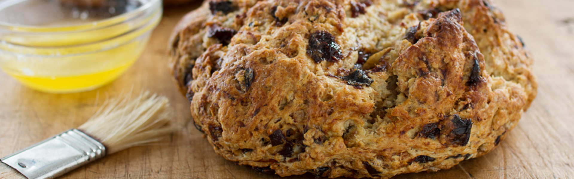 <p>Diced Prunes soaked in tea add new flavor dimensions to classic Irish-American soda bread–the tannins in the tea draw out the sweetness in the prunes.</p>