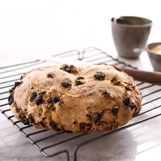 <p>Inspired by the fruit-filled breads of Italy, this bread studded with diced prunes complements everything from jam to olive oil and cheeses.</p>