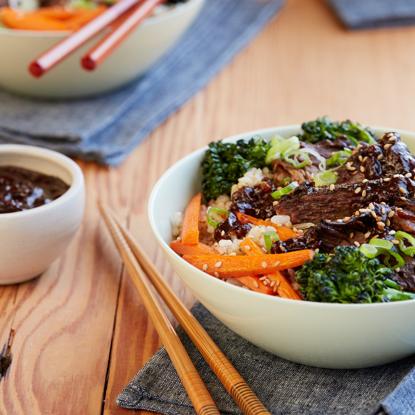 <p>Instead of sugar, this teriyaki sauce uses prunes and mirin for sweetness. Use it as a marinade or a marinade and a slow-cooker sauce for comfort food rice bowls.</p>