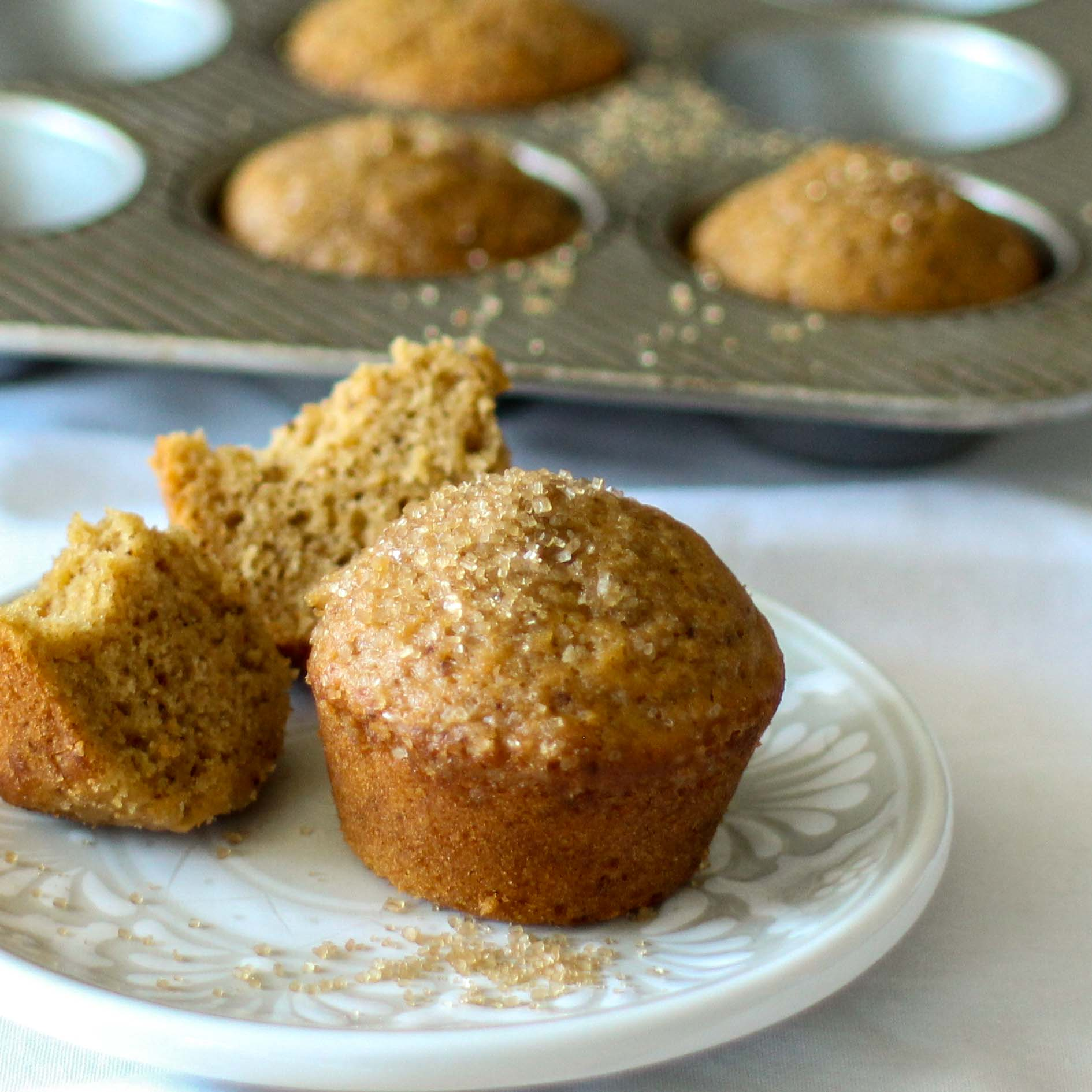 <p>Dried Plum Powder helps bind moisture in gluten-free flour blends, taking the place of xanthan gum. The powder also deepens the sweetness of the muffins.</p>