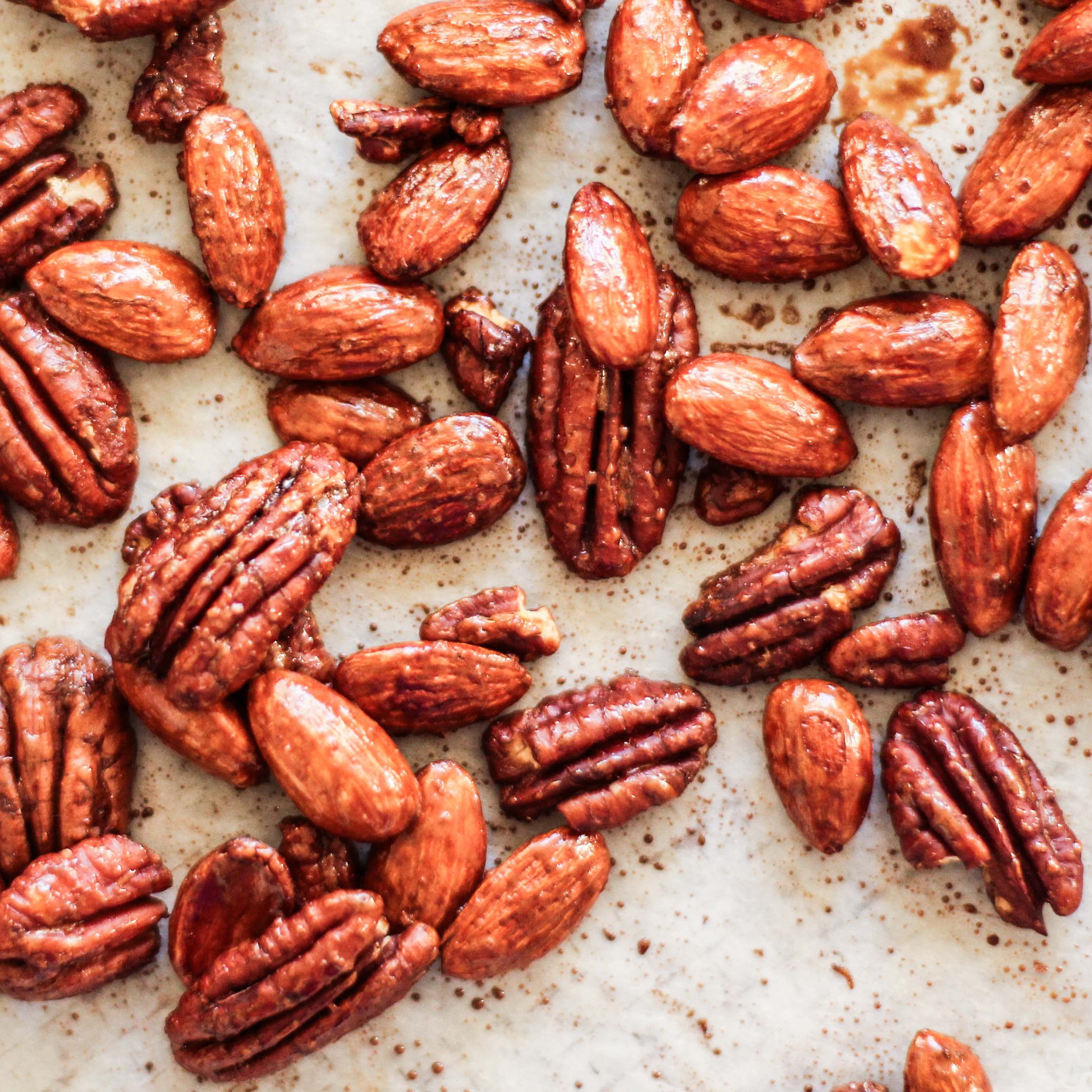 <p>Adding Fresh Plum Concentrate and honey to roasted nuts deepens the caramelization without as much stickiness as using honey alone.</p>