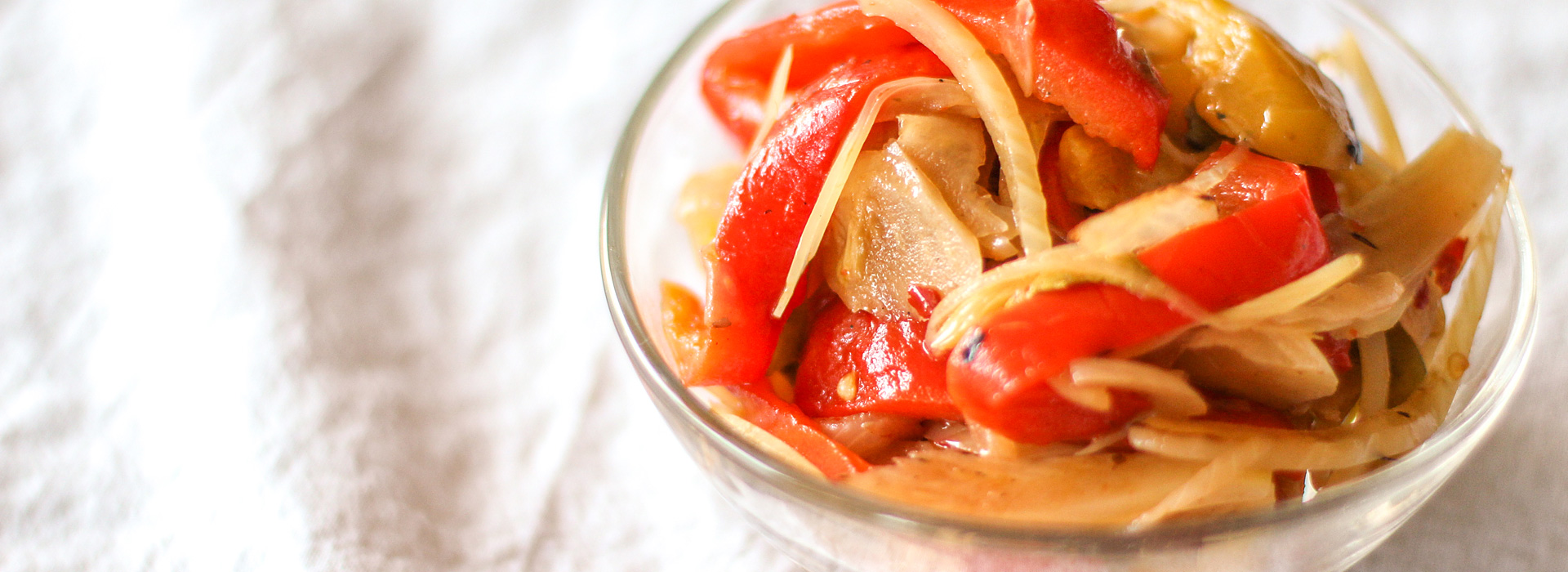 <p>The roasted peppers and capers in peperonata make the condiment perfect for topping meatballs or used in a sandwich. A small amount of fresh plum concentrate helps to brighten flavors and extend the refrigerated shelf life.</p>