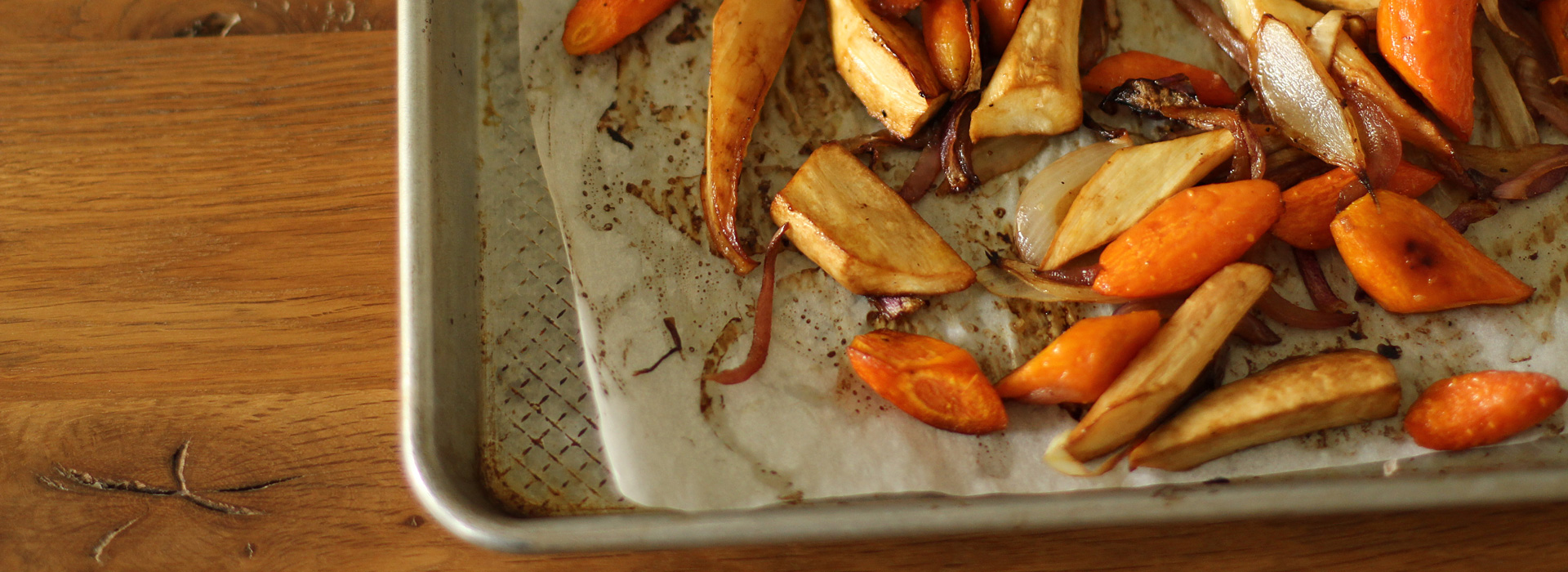 <p>Served with roasted vegetables, the caramel sweetness of prune juice concentrate makes it resemble balsamic vinegar. When used with red wine vinegar, the result tastes like aged balsamic vinegar. Here, the concentrate creates a caramelized glaze for root vegetables.</p>