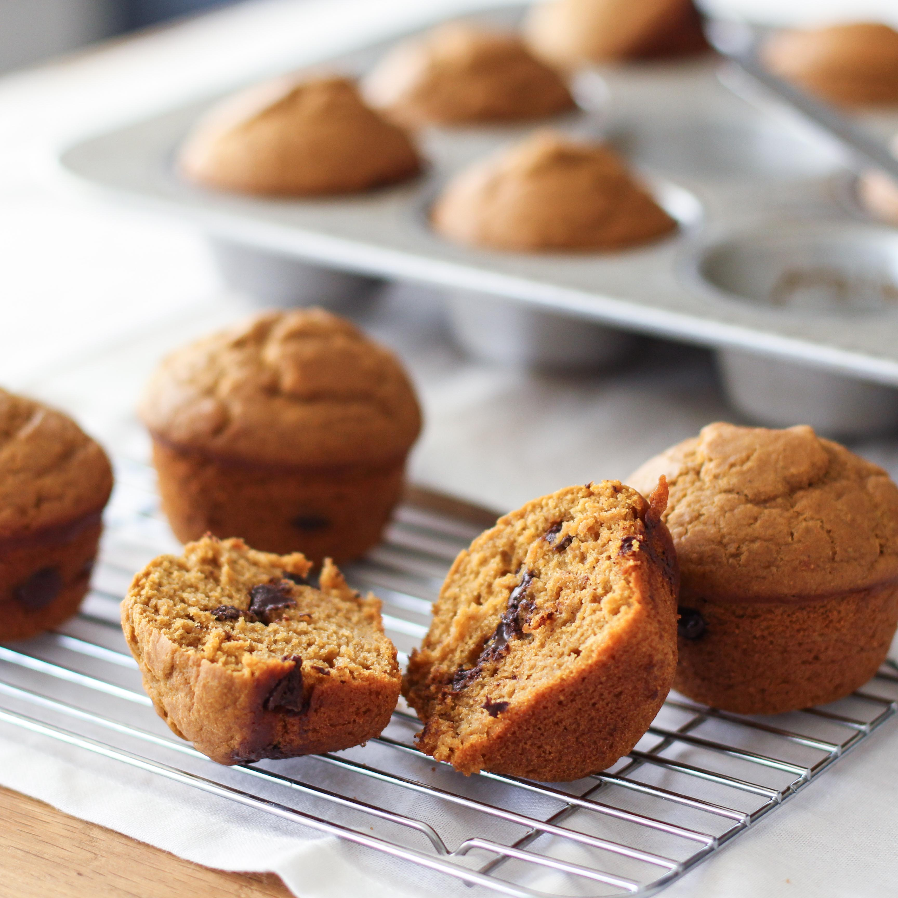 <p>Chocolate accents the pumpkin flavor of these muffins while prune concentrate enhances caramelization while also allowing for lower fat and sugar levels. </p>