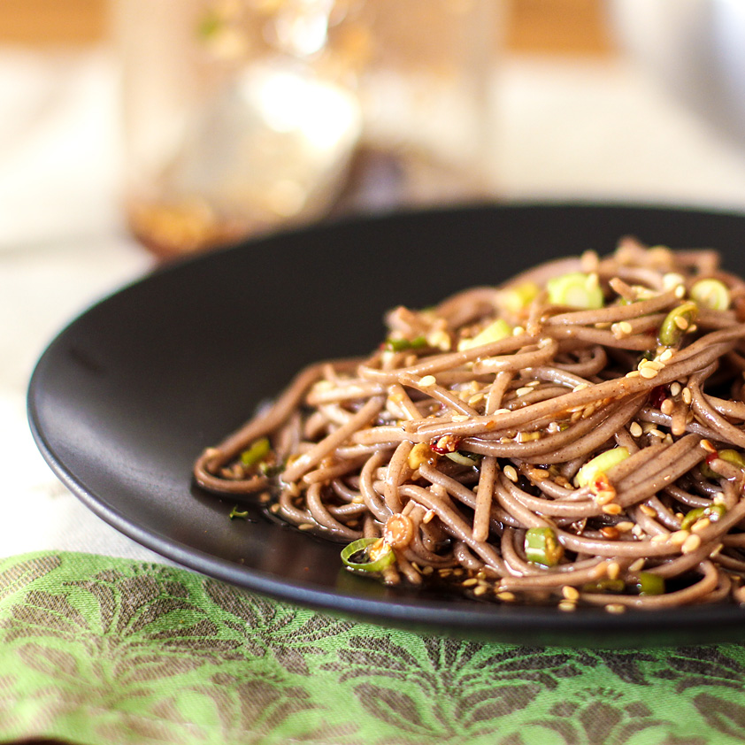 <p>With grated ginger, toasted sesame oil, and sesame seeds, this simple soy vinaigrette can dress anything from chilled soba noodles to Asian chicken salad. Fresh Plum Concentrate balances the savory flavors without making the sauce too sweet.</p>