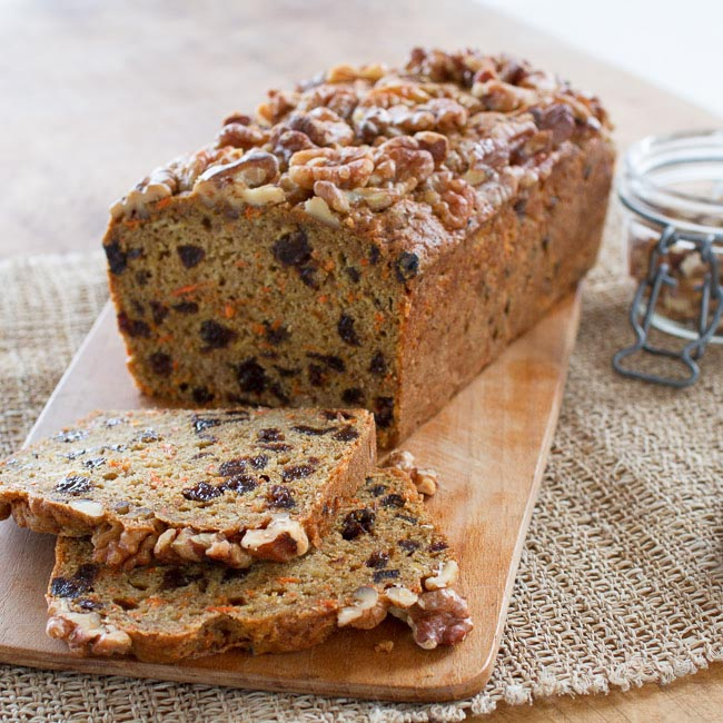<p>Full of Diced Dried Plums, shredded apples, and grated carrots, this quickbread is sweet enough without a lot of added sugar.</p>